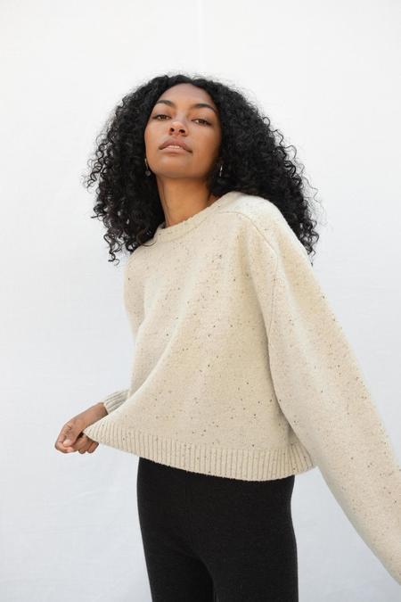 Micaela Greg Speckle Boucle Sweater - Cream
