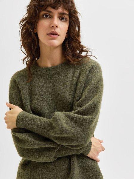 Selected Femme Kaya Round Neck Knit Pullover - Kalamata