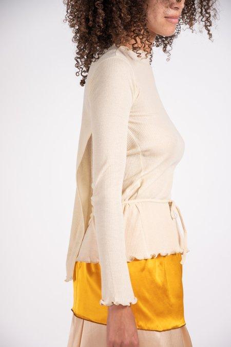 Baserange Kosa Wrap Long Sleeves - Ecru
