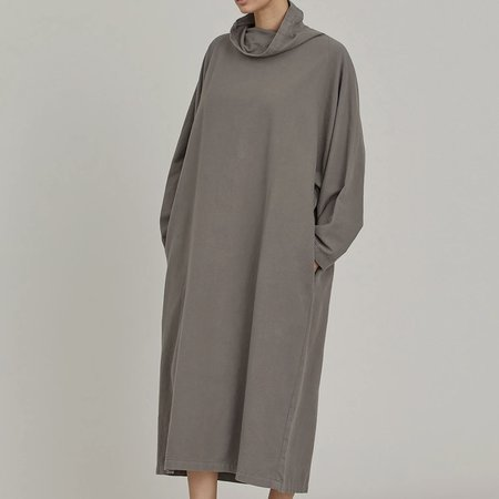 Black Crane Tube Dress - Mud