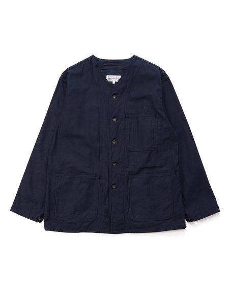 Engineered Garments Cotton Reverse Sateen Workaday Engineer Jacket - Dark Navy
