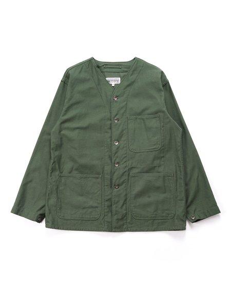 Engineered Garments Cotton Reverse Sateen Workaday Engineer Jacket - Olive