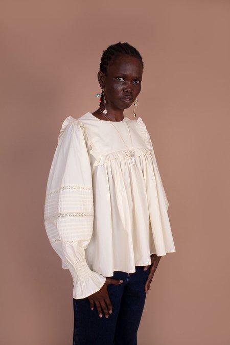 Meadows Fleur Cotton Top - Off-White