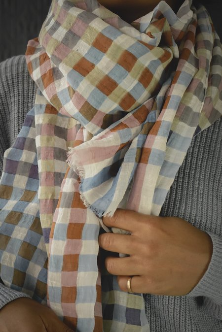 Épice Muted Check Scarf - Multi