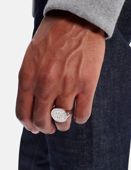 A.P.C. Stamp Ring - Silver