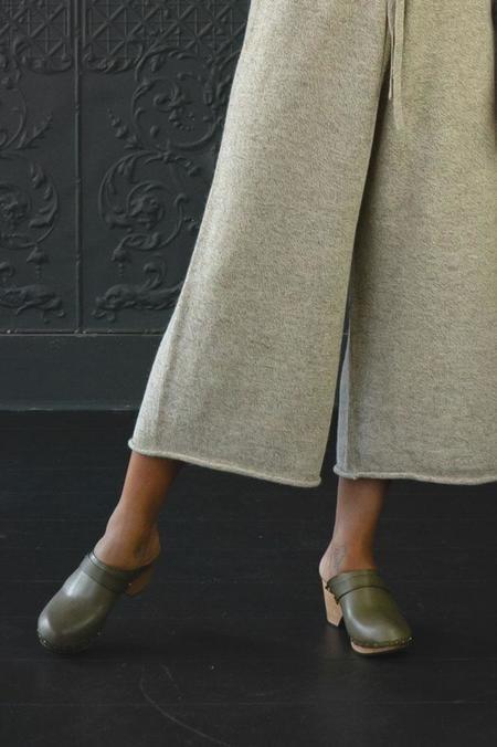 Lisa B. High Heel Clogs - Olive
