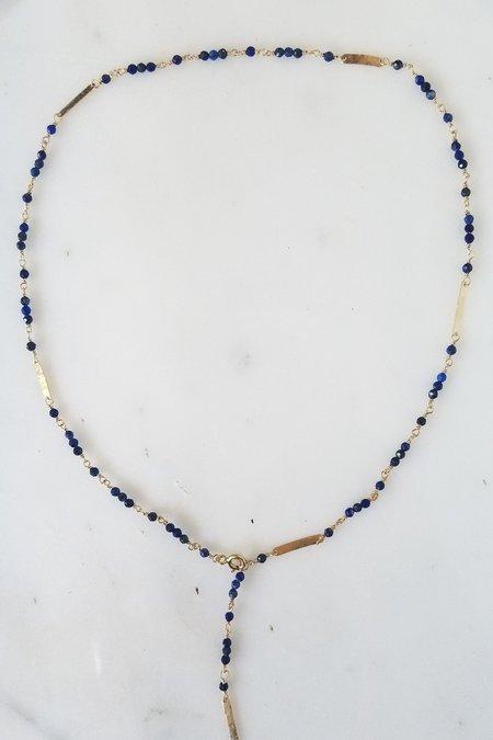 Cobamae Baguette Necklace - Lapis