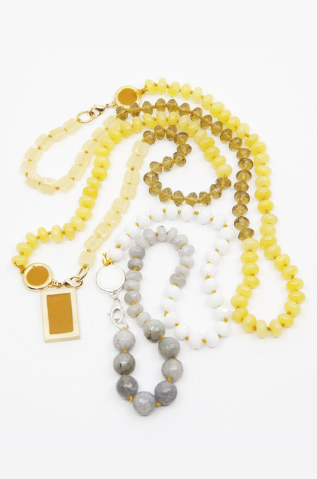 A. Carnevale BEADED NECKLACE - WHITE