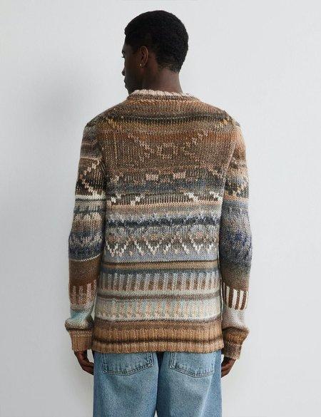 NN07 Chuck Wool Crewneck Sweater - Ecru Multi