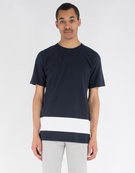 La Paz Neves T-Shirt Navy White Stripe