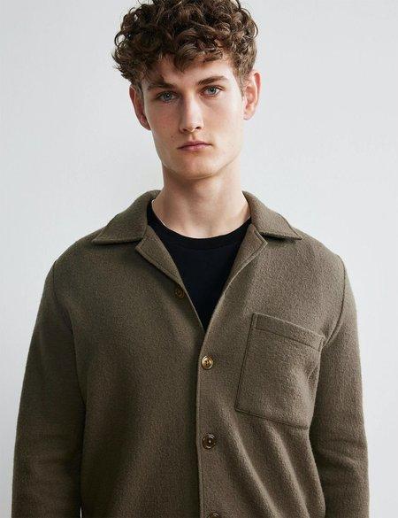 NN07 Miyagi Wool Overshirt 6394 - Clay Green