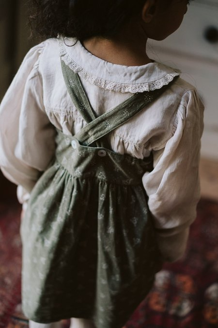 Kids Little Cotton Clothes Dorcas Pinafore - Garden Floral