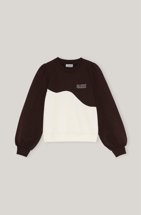 Ganni Wave Sweatshirt - Brown