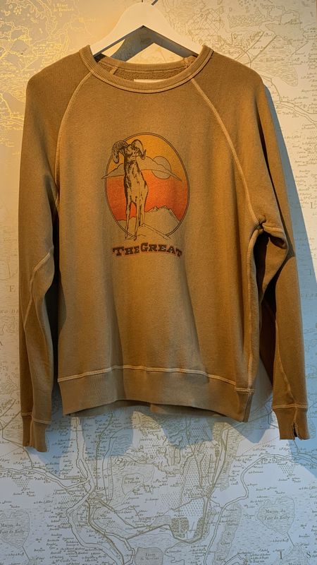The Great. College Sweatshirt with Ram Graphic