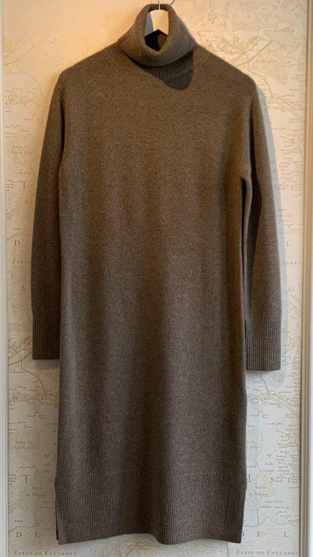 Joseph Turtleneck Cashmere Long Sleeve Dress - Taupe