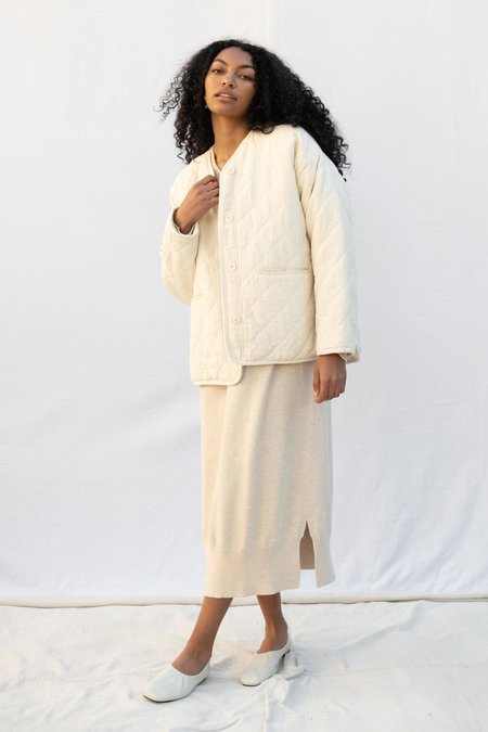 Micaela Greg Cross Quilt Jacket - Natural