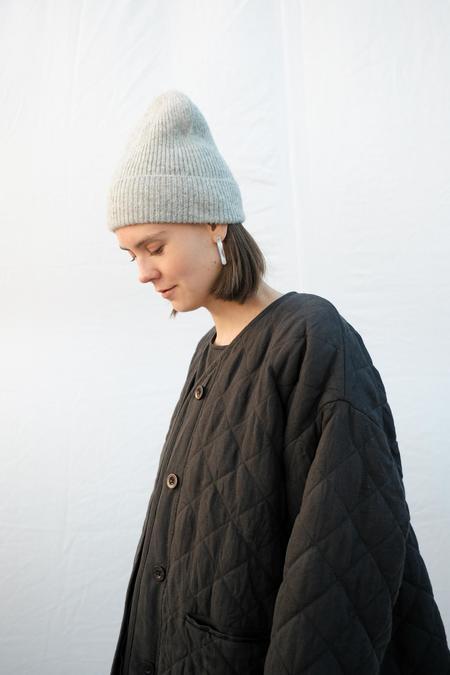 Micaela Greg Rib Hat - Heather Grey