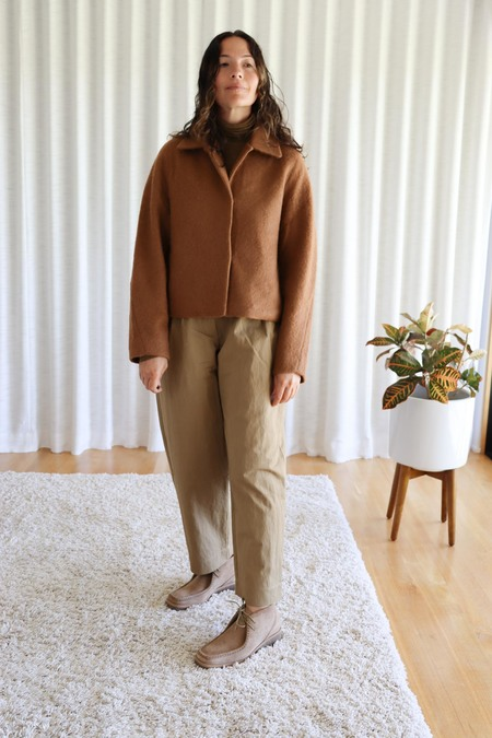Mijeong Park Boucle Short Jacket - Camel
