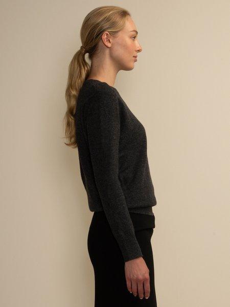 PURECASHMERE NYC Classic Crew Neck Sweater - Graphite