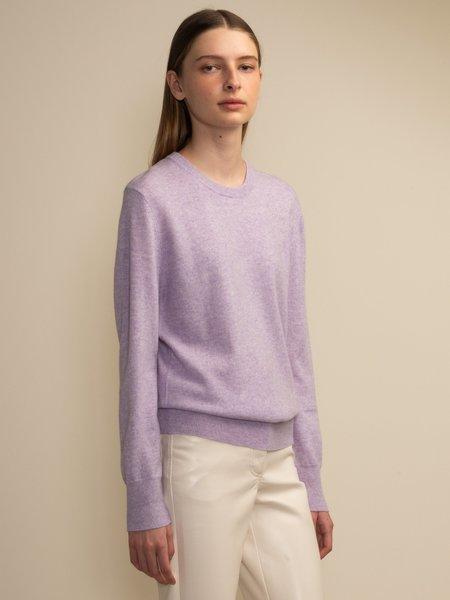 PURECASHMERE NYC Classic Crew Neck Sweater - Lavender