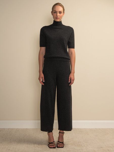 PURECASHMERE NYC Loose Fit Pants - Graphite