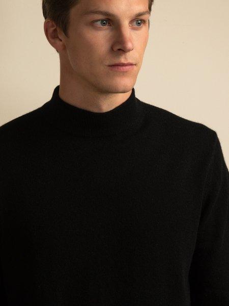 PURECASHMERE NYC Men Mockneck Sweater - Black