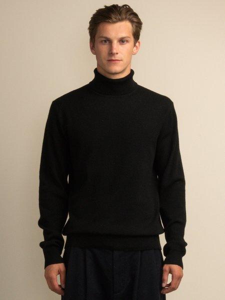 PURECASHMERE NYC Men Turtleneck Sweater - Black