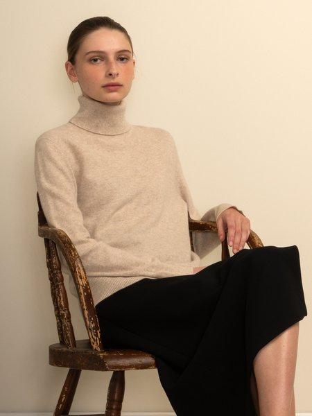 PURECASHMERE NYC Turtleneck Sweater - Oatmeal