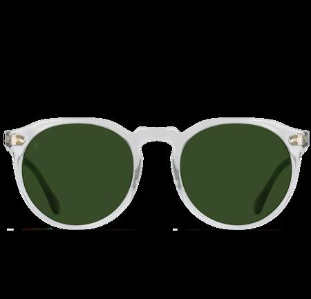 Raen Remmy Sunglasses - Fog Crystal/Bottle Green