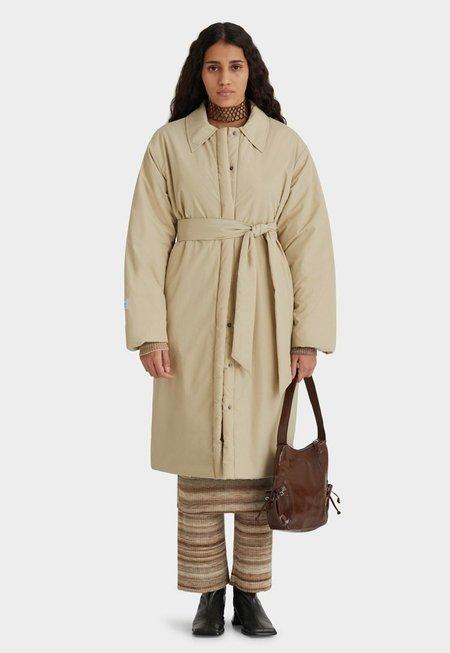 Unisex Paloma Wool Apolo Puffer Long Coat - Sand