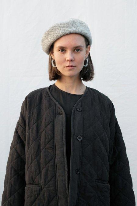 Micaela Greg Felted Alpaca Beret - Melange Grey