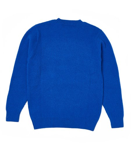 Country of Origin Ribbed Crew - Blue