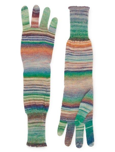 Paloma Wool Onawa Gloves - Green/Brown
