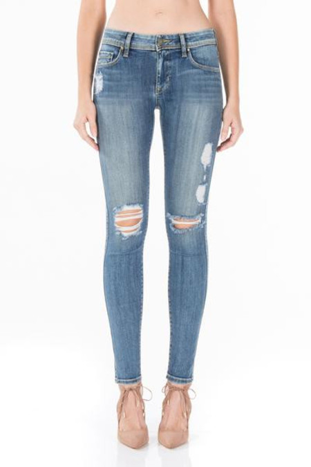Fidelity Denim/Belvedere Mid-Rise Skinny in Shindo Blue