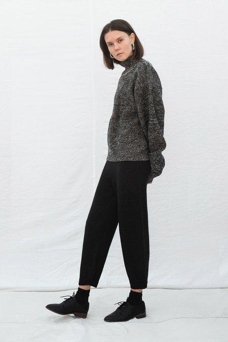 Melange Black Taper Sweatpants