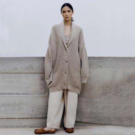 Mónica Cordera Soft Wool Coat - Taupe