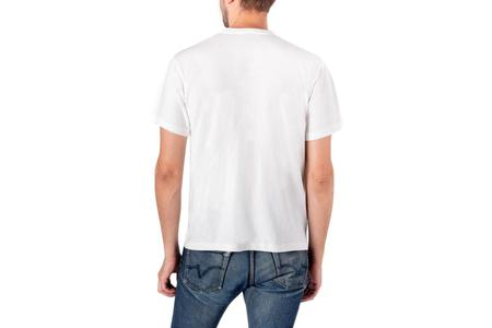 Iron Heart 6.5oz Loopwheel Crew Neck Longer Body T-Shirt - White