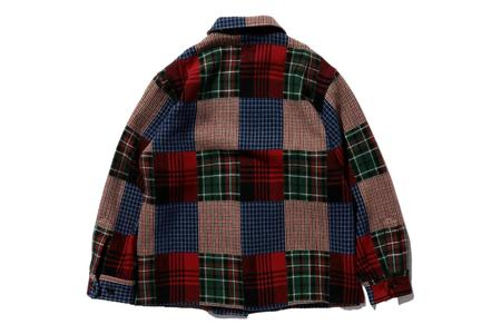 Beams Plus MIL Shirt Jacket - Patchwork Like Dobby Check