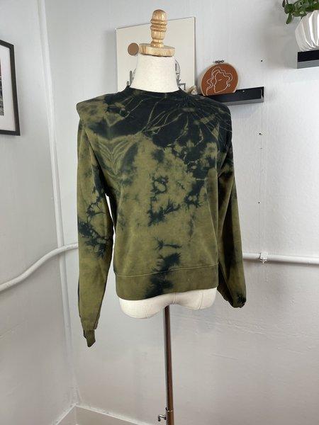 [pre-loved] Les Coyotes de Paris Tie Dye Sweatshirt - Green/dark green