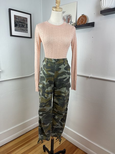 [pre-loved] Mother Denim The Sir, Yes Sir Camo Cargo - Green multi