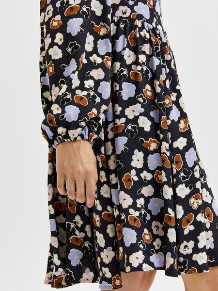 Selected Femme Heri Dress - Blue Graphite