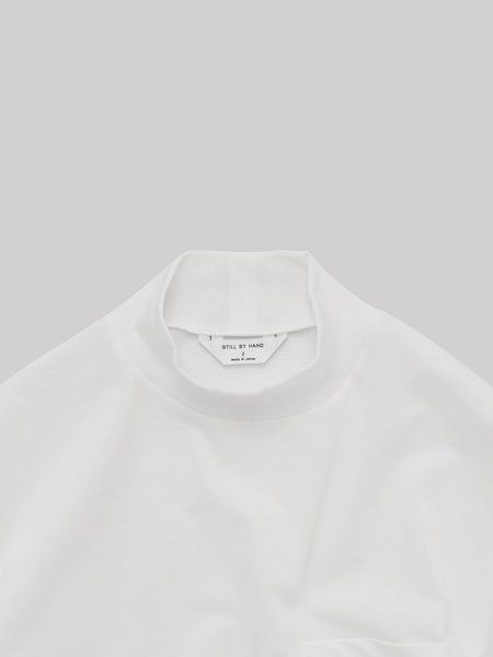 Still By Hand High Neck Long Sleeve - White