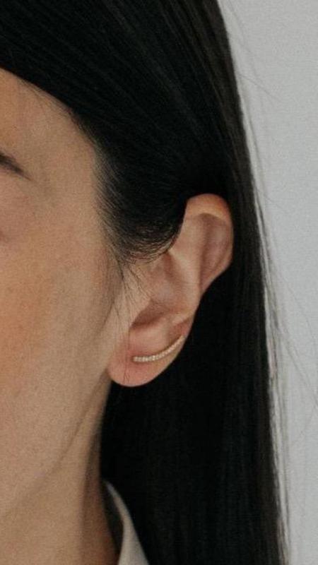 Enti Ana Crawler Earrings - Silver