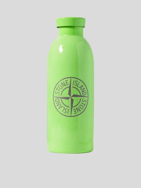 Stone Island Logo Water Bottle - green