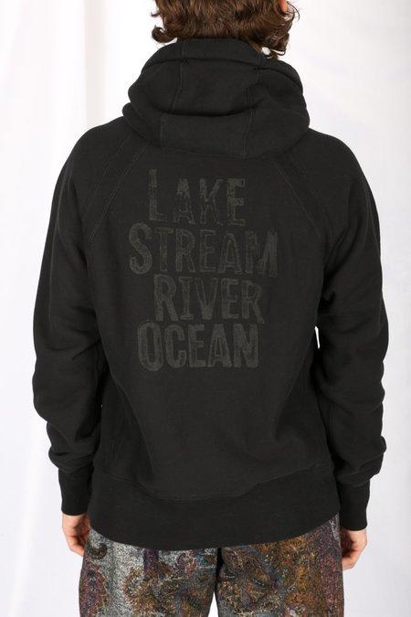 Engineered Garments LAKE PRINT HOODIE sweater - black