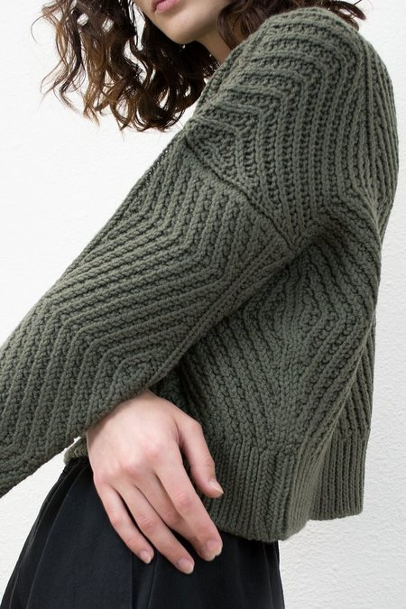 MICAELA GREG-BEVEL SWEATER