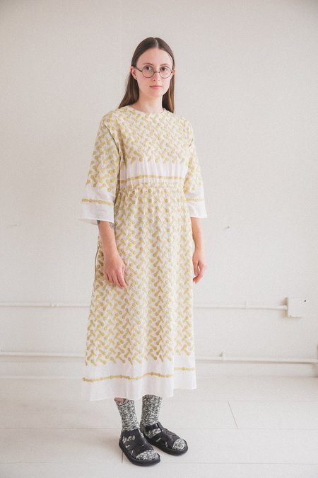 Antipast Embroidery Fabric Dress - Prints