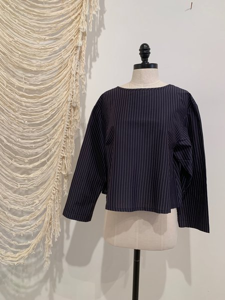 Miithaaii Silk and Cotton Top - BLACK