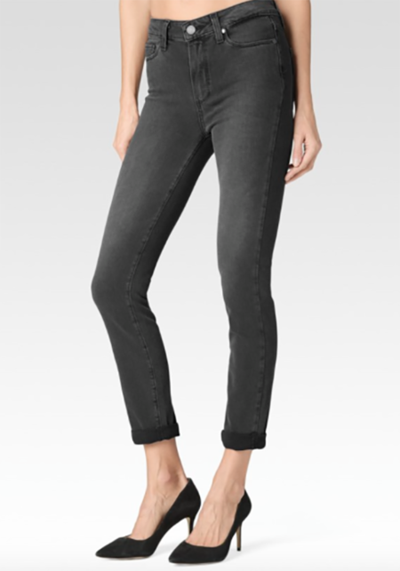 Paige Denim Paige Hoxton Crop Rollup Smoke Grey
