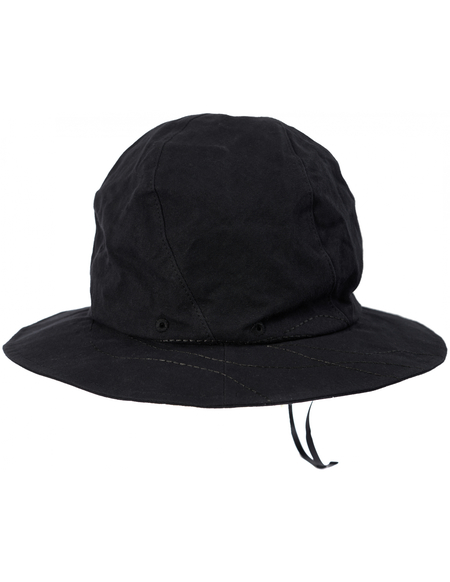 Y's a paraffin finish hat - Black